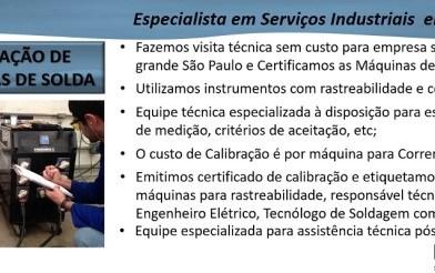 CALIBRAÇÃO DE MÁQUINAS DE SOLDA
