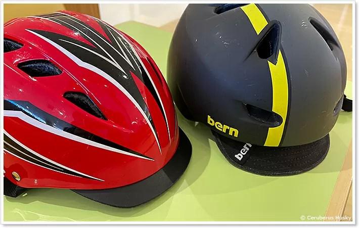 自前のヘルメット