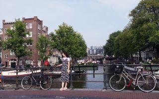 Canales y bicicletas en Amsterdam, Países Bajos