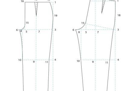 Patrón base de pantalon de mujer