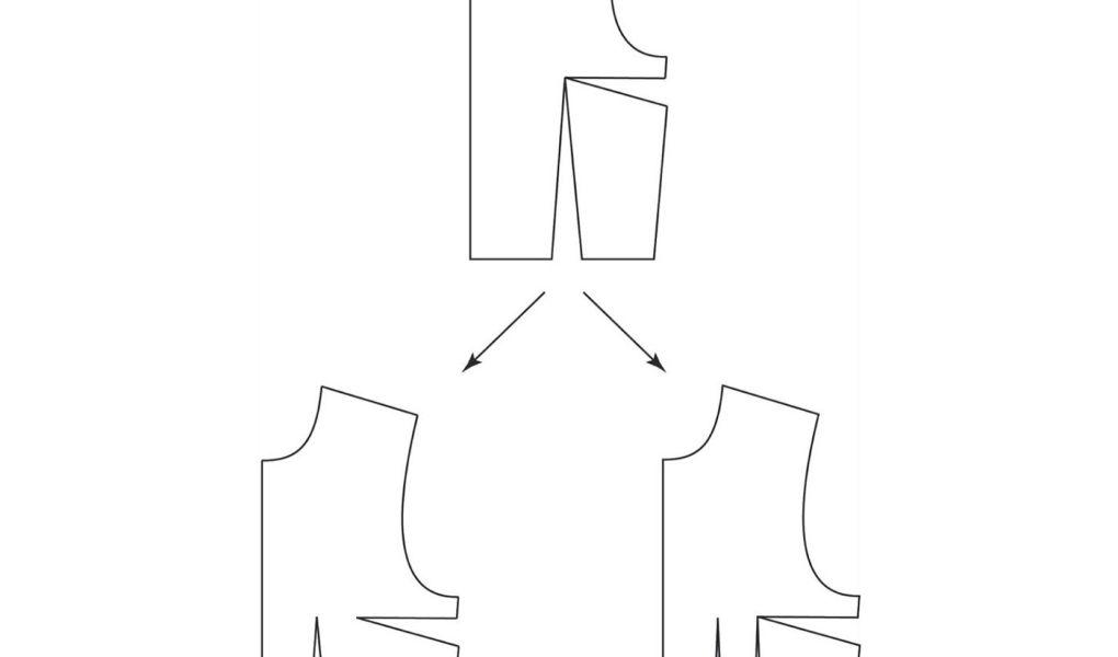 Cómo mover o dividir una pinza en un patrón base de cuerpo