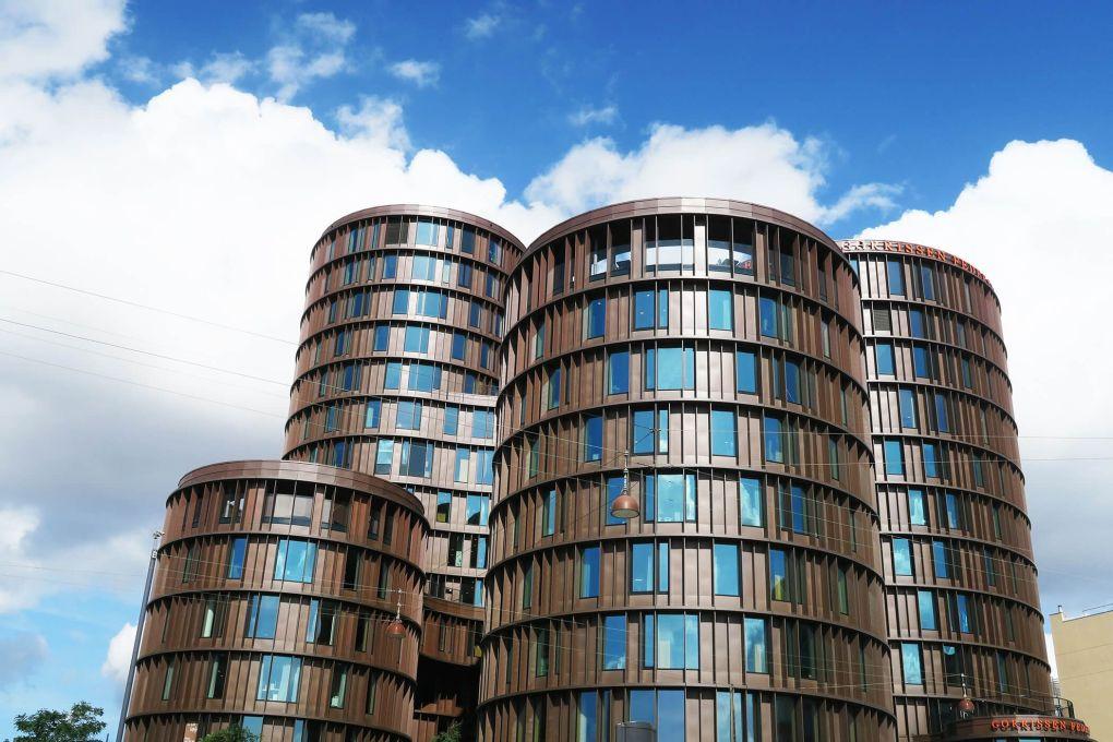 Bloques de oficina en Copenhague, Dinamarca