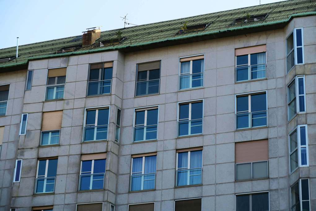Edificios en Milán, Italia