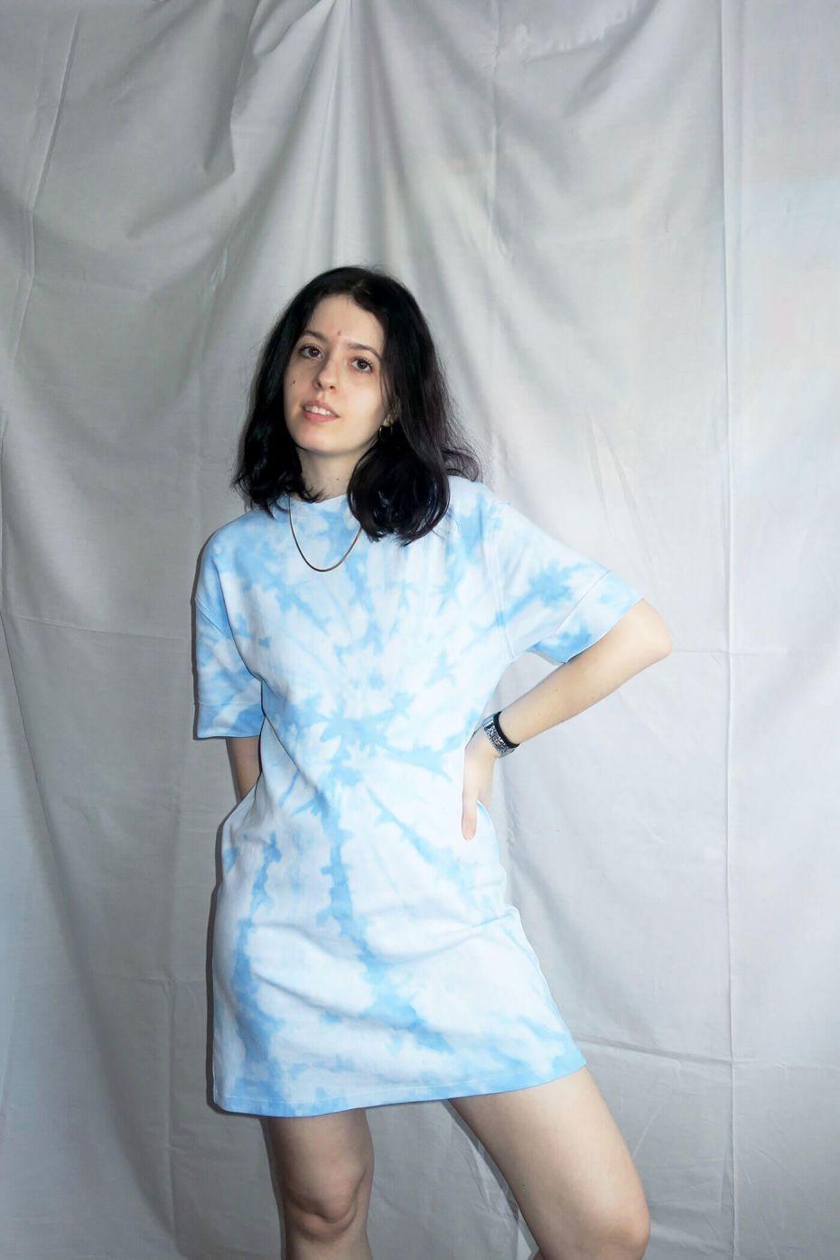 Tutorial reciclaje ropa: DIY vestido tie dye