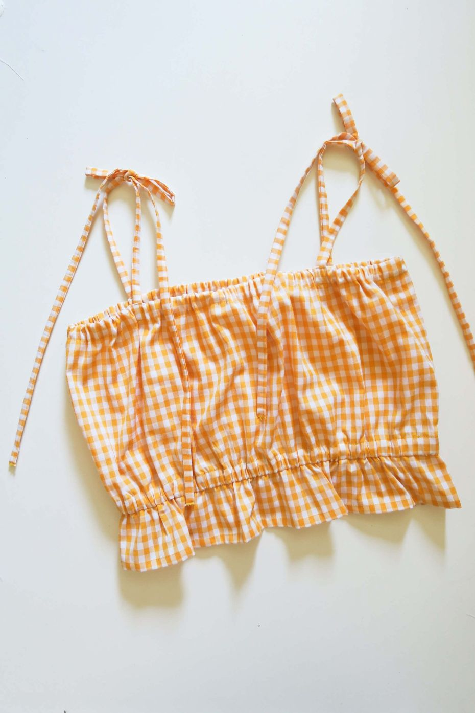 Tutorial costura DIY: crop top lazos