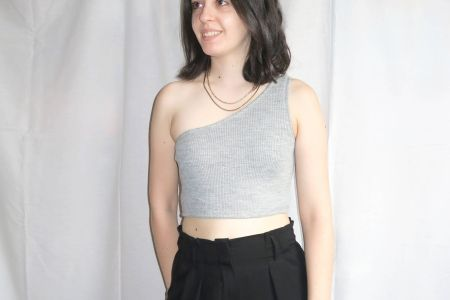Tutorial costura DIY: crop top asimétrico de canalé