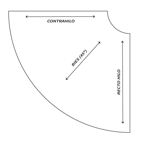 Tutorial patronaje: patrón de falda de capa