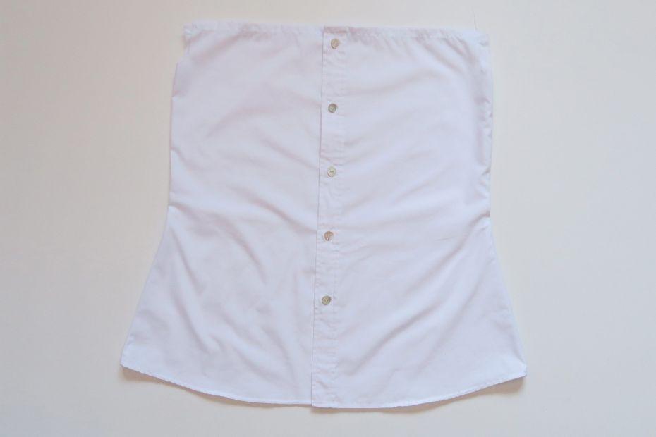 Tutorial reciclaje ropa: DIY camisa manga abullonada, entallando la camisa