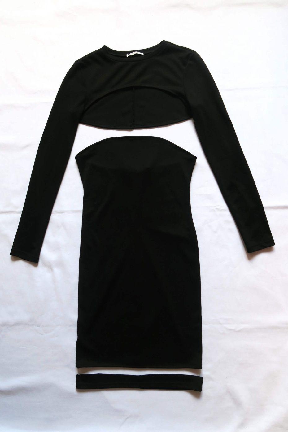 Tutorial reciclaje ropa - DIY upcycling vestido y camiseta crop, vestido y camiseta cortados