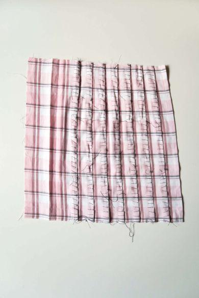 Tutorial reciclaje ropa: DIY falda tablas patchwork, tablas hilvanadas para planchar