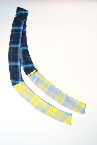 Tutorial reciclaje ropa: DIY falda tablas patchwork, cinturilla trasera y delantera cosidas