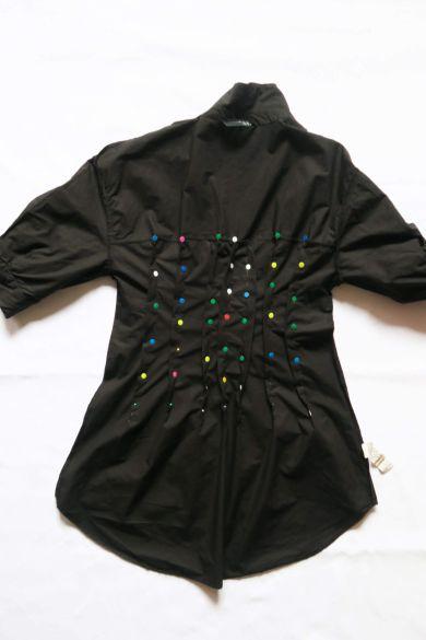Tutorial reciclaje ropa: DIY vestido camisa ajustado, pinzas en la espalda