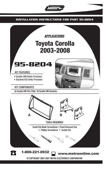 2007 corolla repair manual pdf