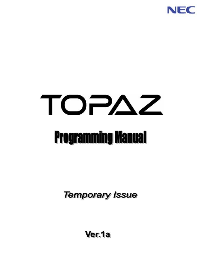 Nec sv8100 pc programming manual