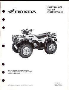 Honda foreman s service manual
