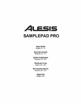 Alesis dm pro service manual