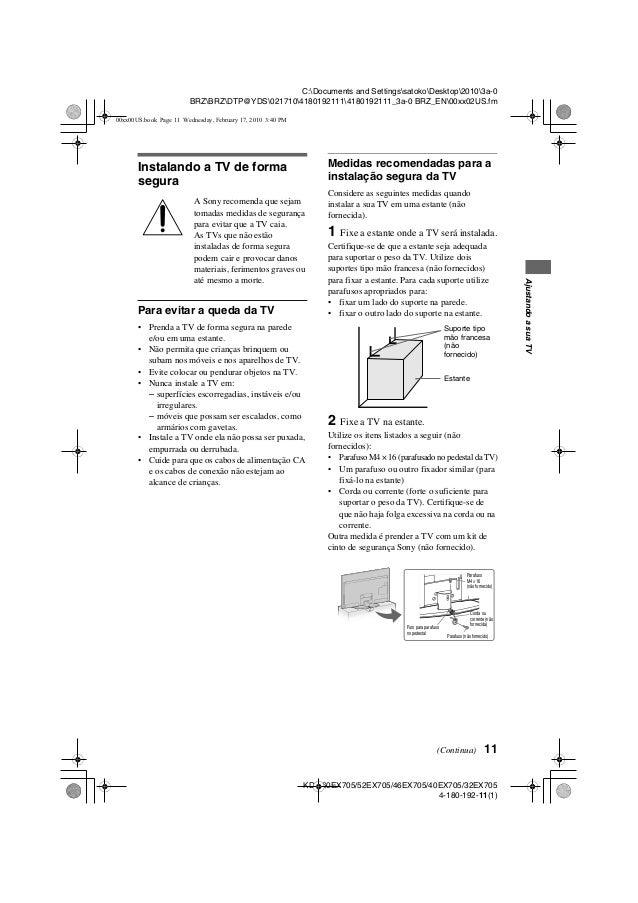 Sony bravia kdl-37m4000 manual