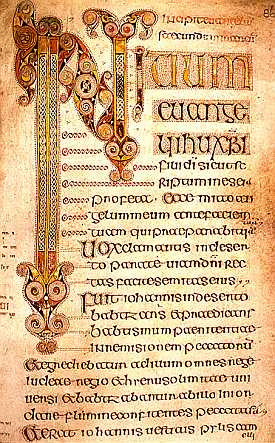 The Book of Durrow's Gospel of   Mark