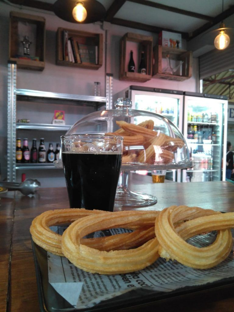 Forbeer Planet Stout con churros
