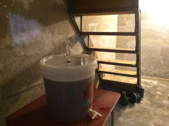 Fermentando en el sótano de mis padres a temperatura constante.