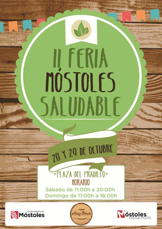 II Feria Saludable Mostoles - cartel