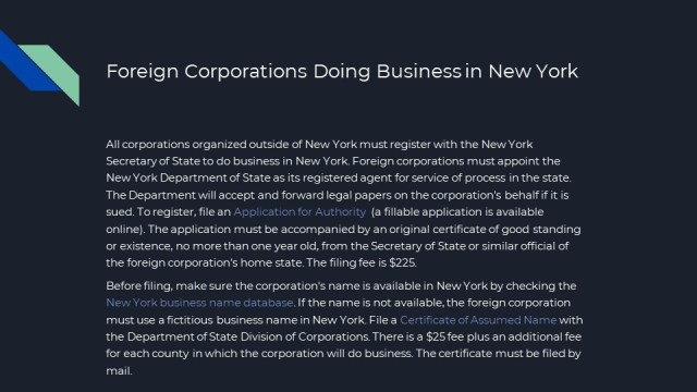 Corporation Creation in New York 11