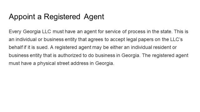 Forming an LLC Georgia 4