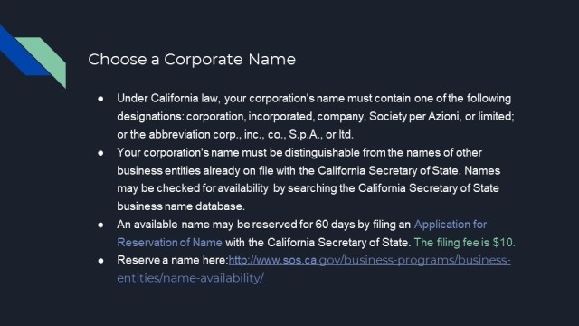 How to Form a Corporation in California 2
