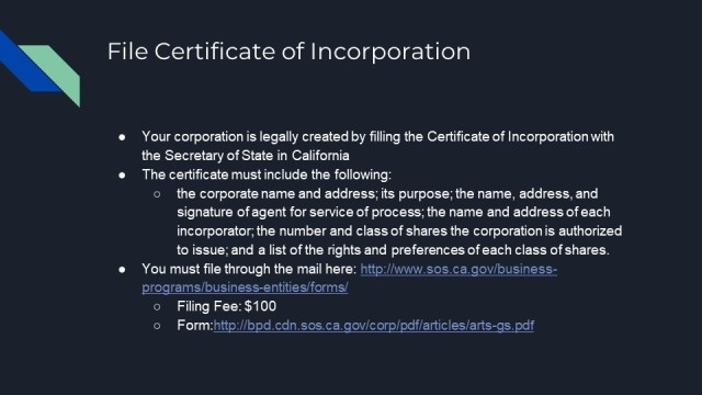 How to Form a Corporation in California 4