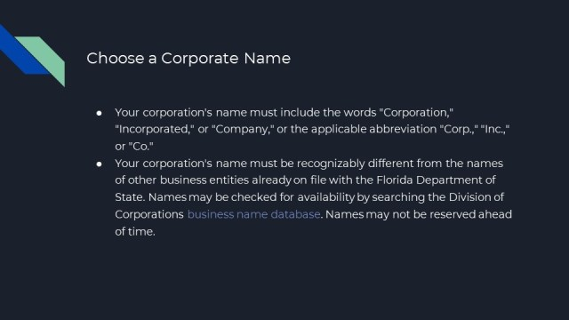 How to Form a Corporation in Florida 2