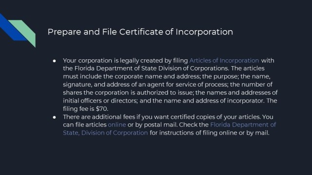 How to Form a Corporation in Florida 3