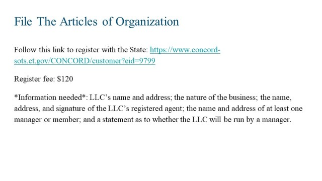 How to Form an LLC in Connecticut 4