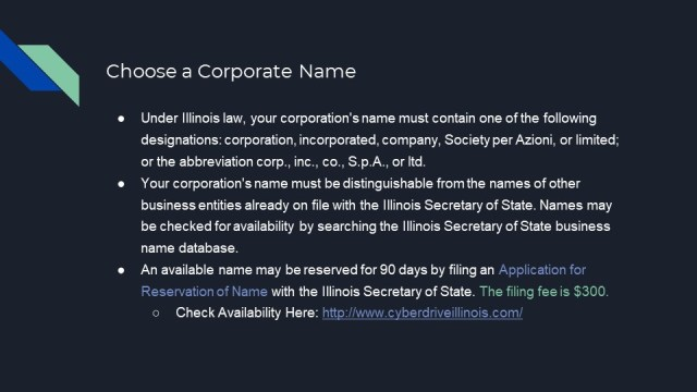 How to From a Corporation in Illinois 2