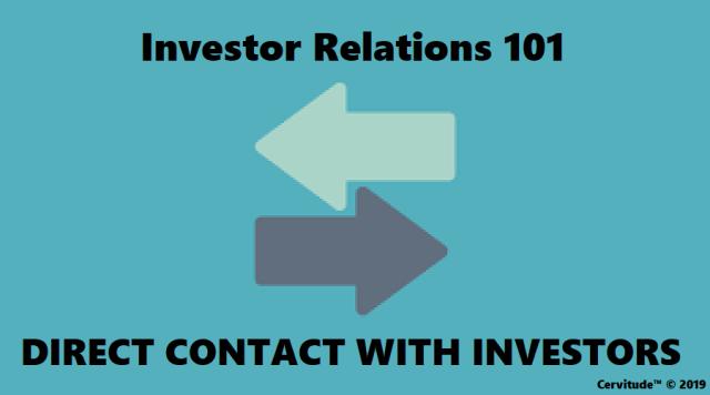 INVESTOR RELATIONS 101
