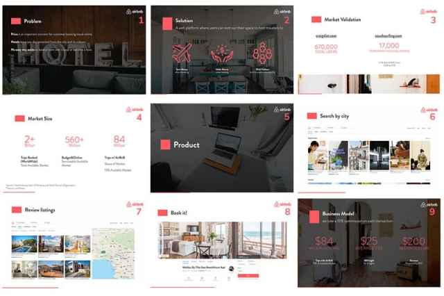 airbnb pitch deck sample