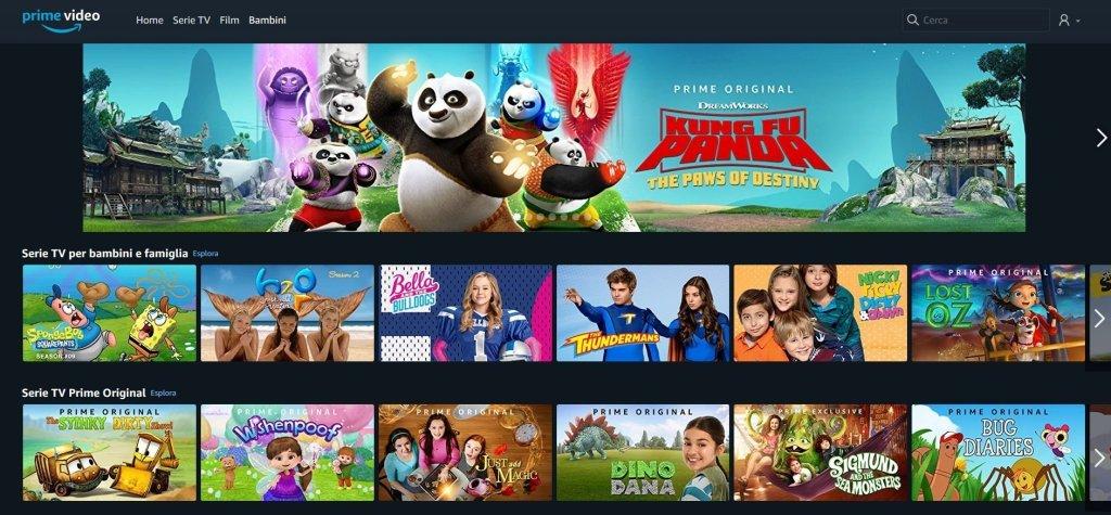 Amazon Prime Video Bambini