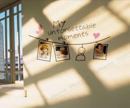 Sweet-memory-cartoon-photo-stickers-living-room-sofa-backdrop-warm-wall-stickers