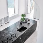 Cesar N Elle Kitchen In Gray Marble Cesar Nyc Marble Kitchens Nyc