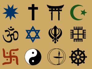 simboli di varie religioni