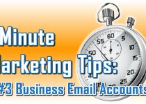 Domain-Based Business Email - 1 Minute Marketing Tips #3 - One minute, one tip, one thing you can do today to improve your marketing!