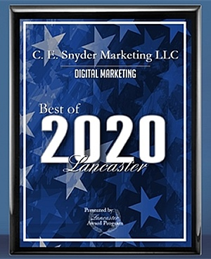 C. E. Snyder Marketing LLC - Digital Marketing Agency - Plaque