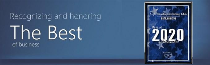The Best of Lancaster in Digital Marketing Award 2020 winner: C. E. Snyder Marketing LLC