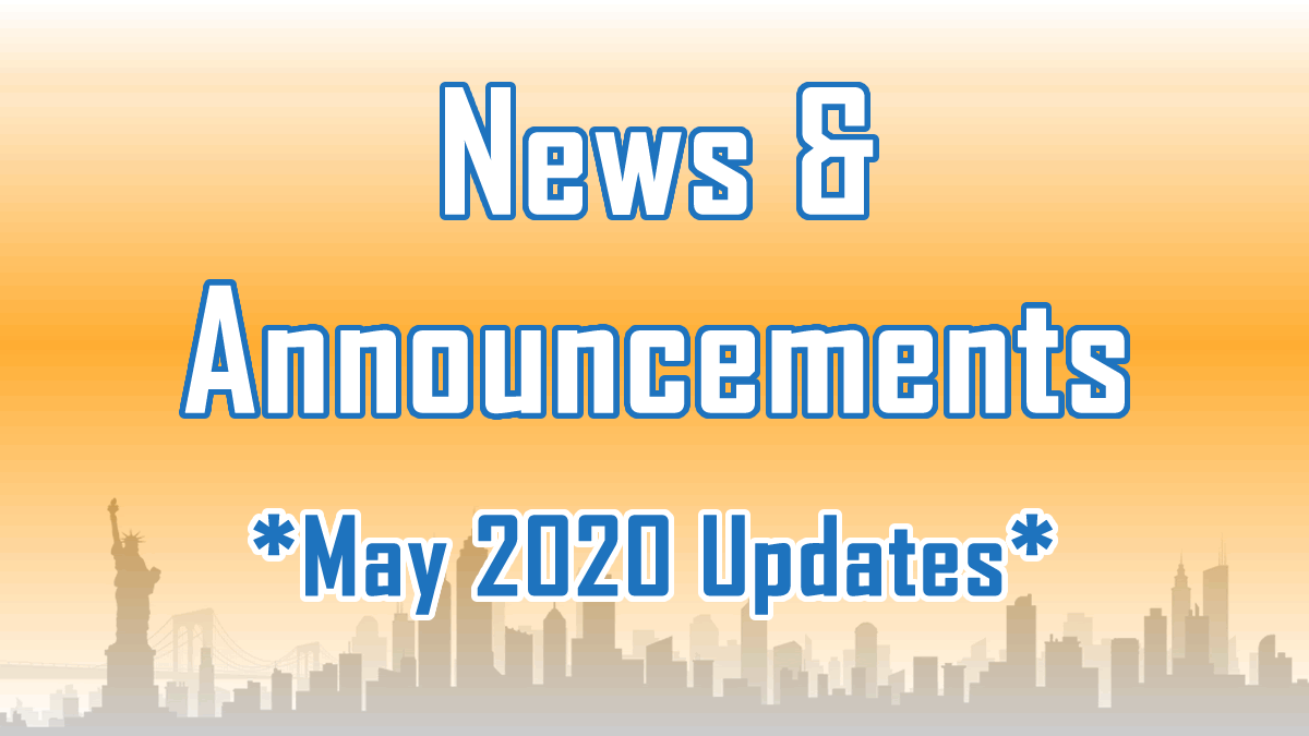 May 2020 Updates