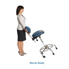 Swivel Chair Risers Wheelchair Repair Singapore 3 In 1 Sit Stand - Sit, Lean Or Stool Height   Cessi Ergonomics