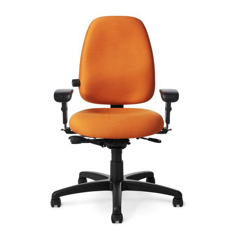 swivel chair risers office conference chairs paramount ergonomic value line - high back task   cessi ergonomics