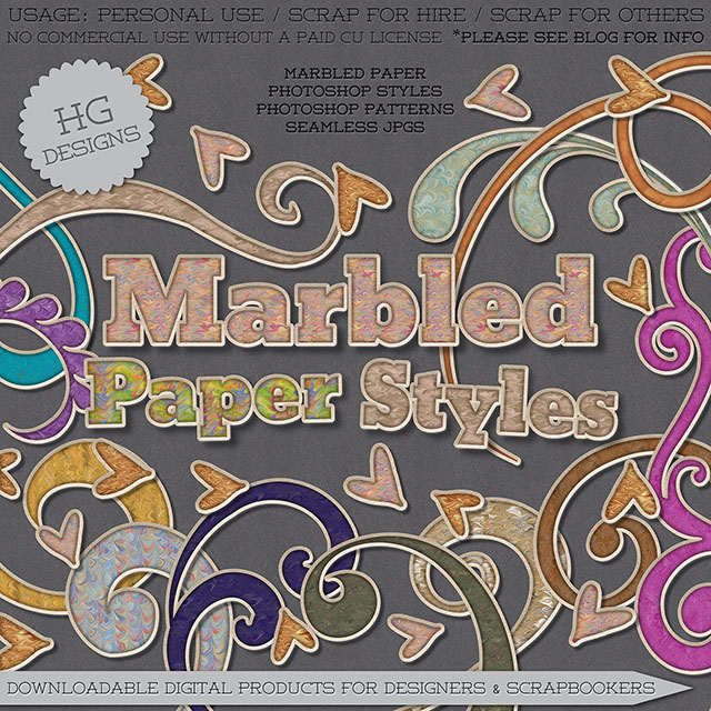 freebie: marbled paper photoshop styles – HG Designs