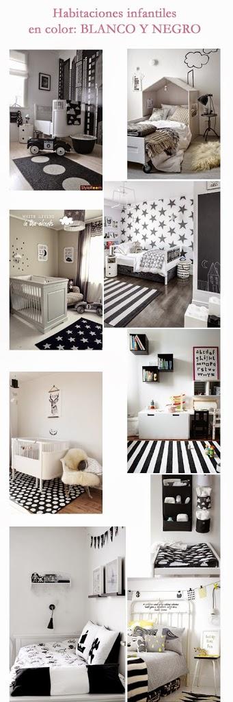 Decorar con blanco y negro habitaciones infantiles - Habitaciones infantiles en blanco ...