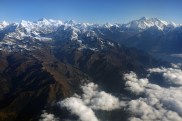 Everest Range (Mt Everest = špička vpravo)