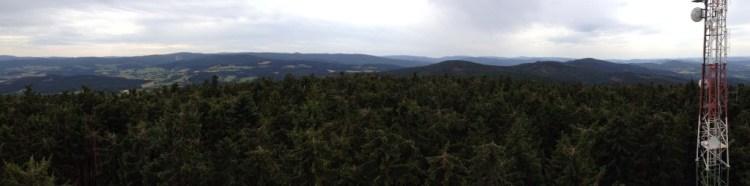 Panorama při pohledu z rozhledny