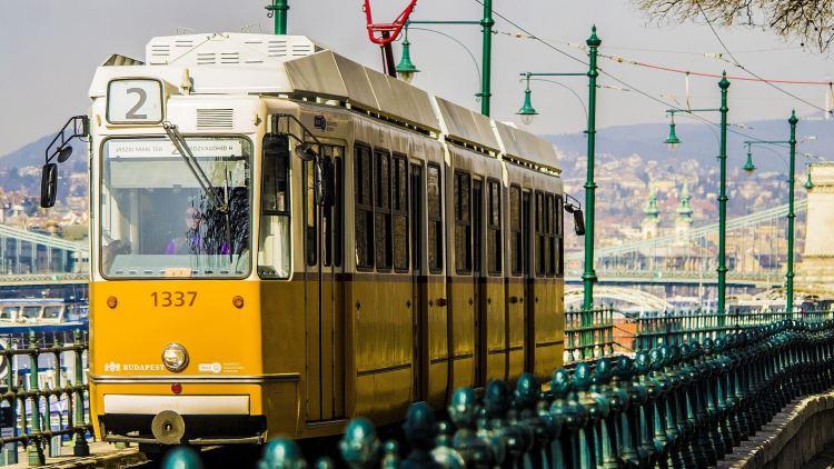 Ikonická tramvaj v Budapešti